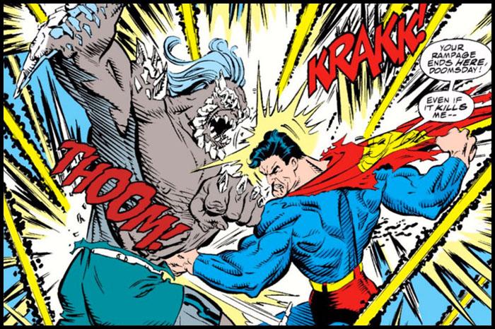 Думсдэй и Супермен комиксы dc
