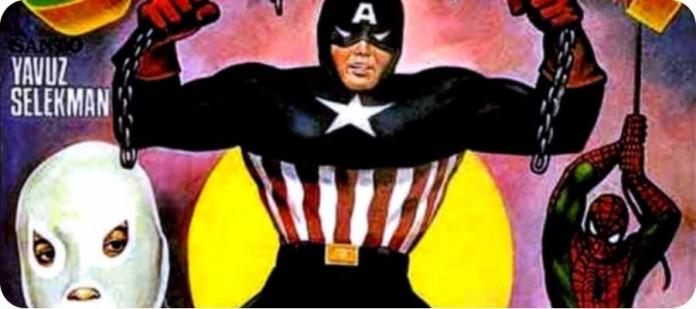 Турецкий Капитан Америка 3 гигантских человека