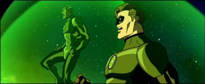комиксы мультфильм DC Зелёный Фонарь: Изумрудные рыцари Green Lantern Emerald Knights