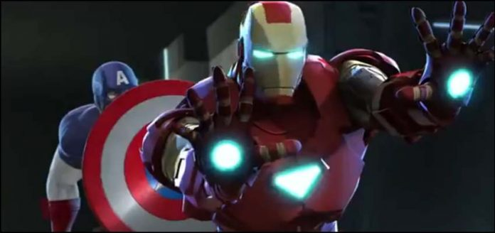 марвел мультики Железный Человек и Капитан Америка: Союз Героев Iron Man and Captain America Heroes United