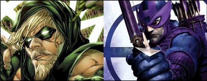 Зеленая Стрела Соколиный глаз DC Marvel