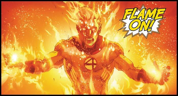 Человек-Факел марвел Шторм