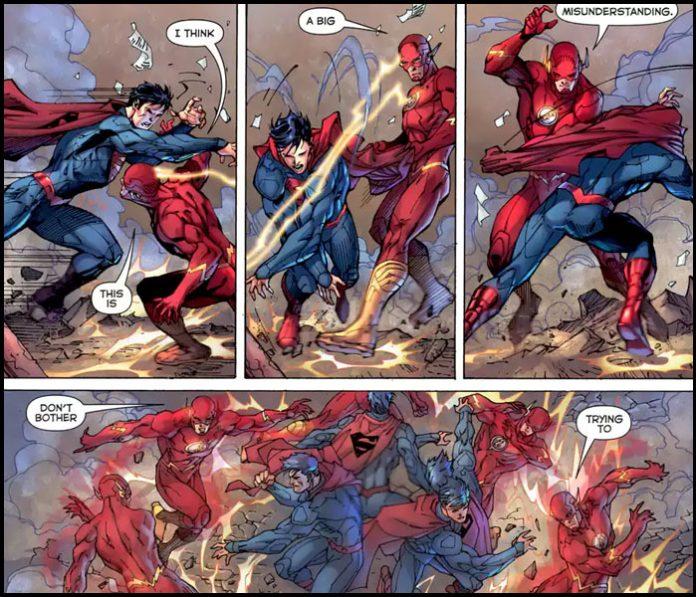 Флэш победил Супермена