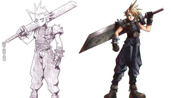 Клауд Страйф (Final Fantasy) первая версия