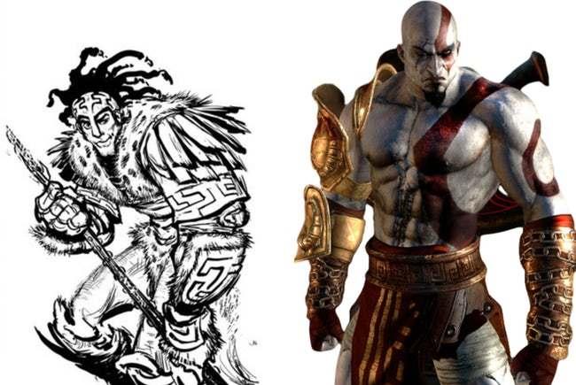 Кратос (God of War) первая версия