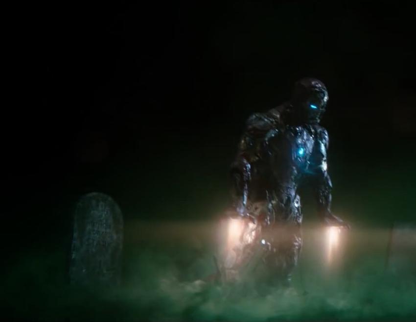 Зомби Железный Человек без спецэффектов