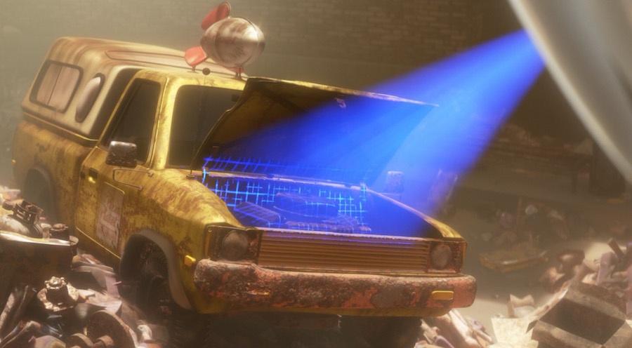 """Появление грузовика """"Планета Пицца"""" в мультике """"ВАЛЛ·И"""""""